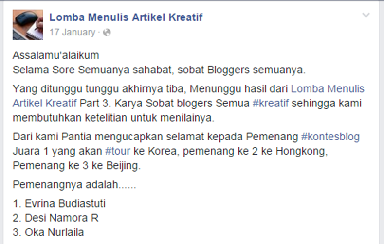 Lomba Blog Cheria Travel