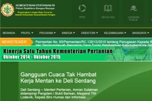 Situs Internet Penyedia Informasi Pertanian