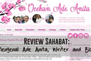 [Review Sahabat] Mengenal Ade Anita, Writer and Blogger