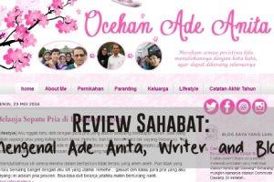 [Review Sahabat] Mengenal Ade Anita, Writer and Blogger