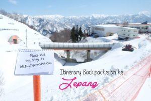 Itinerary Backpackeran ke Jepang