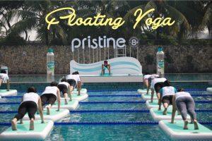 Alternatif Menjaga Gaya Hidup Sehat dengan Floating Yoga dan Pristine 8+